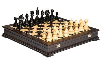 Эксклюзивные резные шахматы ручной работы венера, эбен самшит 50см