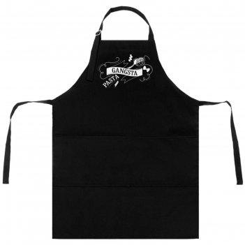 Фартук gangsta pasta, цвет чёрный