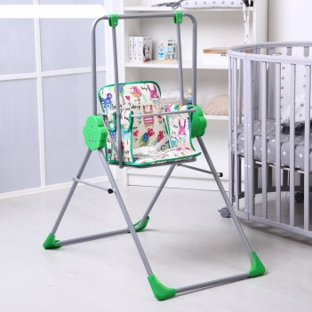 Качели детские напольные «малыш. фея», цвет зеленый