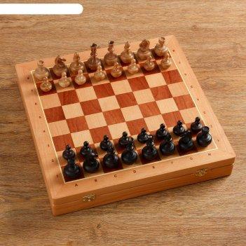 Шахматы гандикап утяжеленные, (доска 43х43 см, бук, король h=8.5, пешка h=