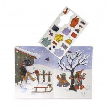 Детская настольная магнитная игра времена года с медвежонком максом