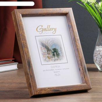 Фоторамка пластик gallery 15х21 см коричневый