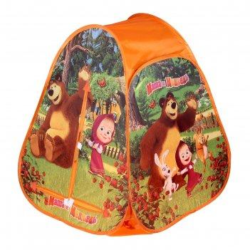 Детская палатка маша и медведь 81*91*81см в сумке gfa-mb01-r