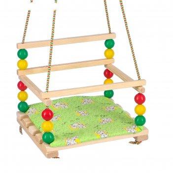 Подвесное кресло для игровой площадки с мягкой сидушкой, ветерок, сиденье