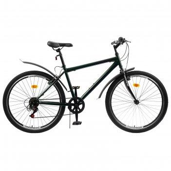 Велосипед 26 progress модель crank rus, цвет темно-зеленый, размер 19