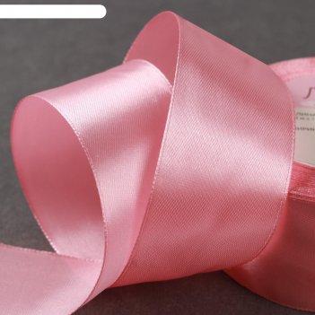 Лента атласная, 40мм, 23±1м, №41, цвет бледно-розовый