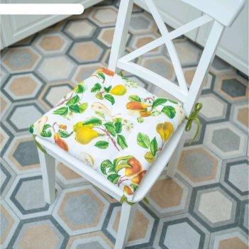 Подушка на стул «сладкая груша», размер 45x45 см, рогожка