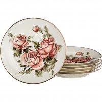 Набор тарелок из 6 шт.корейская роза диаметр=27 ...