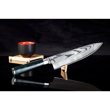 Нож кухонный поварской шеф samura damascus sd0085 лезвие 200 мм