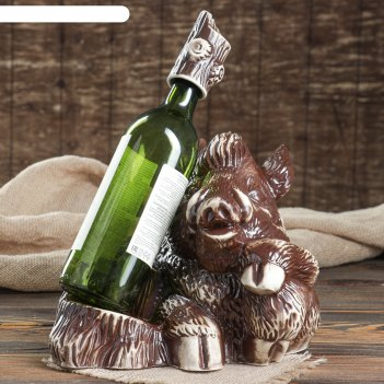 Подставка под вино свин
