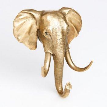 Вешалка - крючок голова слона большая