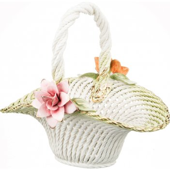 Изделие декоративное корзина с цветами 34*28*32 см.