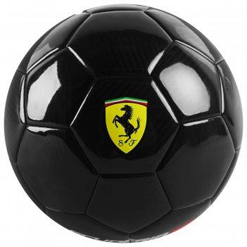 Мяч футбольный ferrari, размер 5, carbon, pu, eva, пряжа, резина, 450 г