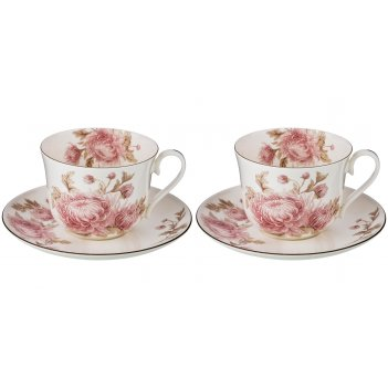 Набор чайных пар на 2 персоны , 4 пр. астра, 450 мл.