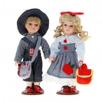 Кукла коллекционная парочка паша и наташа в наборе 2 шт