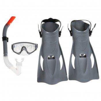 Набор для плавания meridian, для взрослых, маска, ласты, трубка, от 14 лет