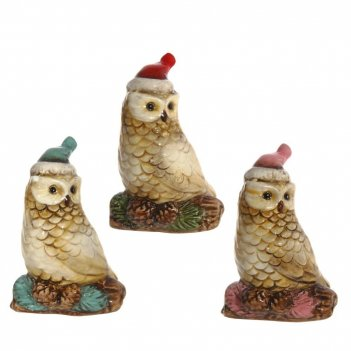 Фигурка декоративная сова, l6 w4,5 h9,5 см, 3в.