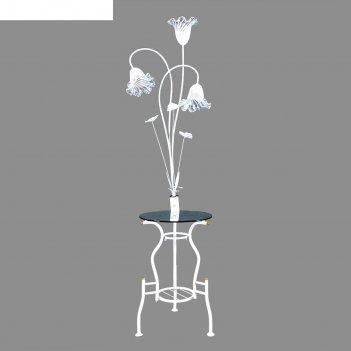 Торшер ландыш белый, 3 лампы, h=160 см