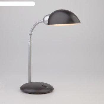 Настольная лампа confetti 1x15вт e27 чёрный, хром