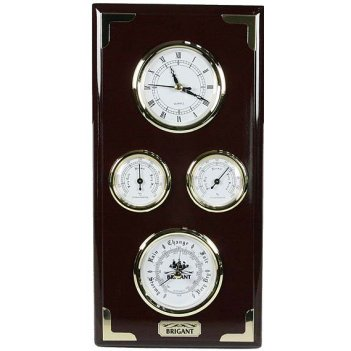 Настенная метеостанция brigant часы с барометром, термометр, гигрометр