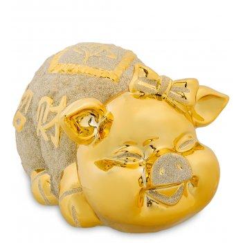 Gp-12 копилка золотая свинка - к благополучию