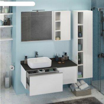 Зеркало-шкаф comforty «милан-120» белый
