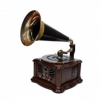 Музыкальный центр-ретро brigant с пультом: fm, cd, mp3, usb,  bluetooth, u