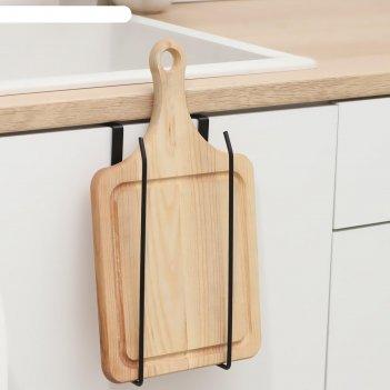 Держатель для кухонных принадлежностей и разделочных досок доляна, цвет чё