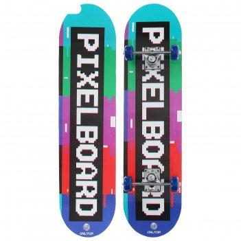 Скейтборд подростковый pixelboard 71 x 20 см, колёса pvc 50 мм, пластикова