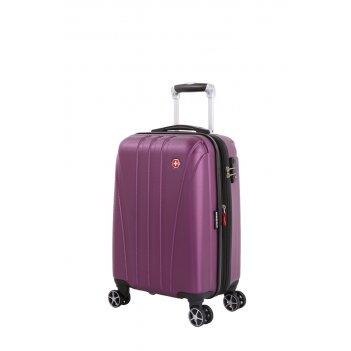 Чемодан swissgear tallac, фиолетовый, абс-пластик, 35 x 25 x 55 см, 37 л