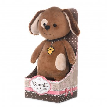 Мягкая игрушка романтичный щенок с подвеской-лапкой 20 см mt-gu052019-3-20