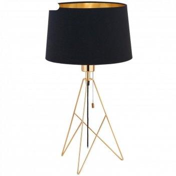 Настольная лампа camporale, 1x60вт e27, цвет золото