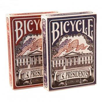 Карты bicycle us presidents red/blue