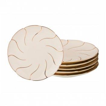 Набор десертных тарелок из 6 шт. диаметр=20 см. (кор=8набор.)
