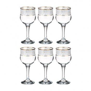 Набор бокалов для вина из 6 шт.белые розы 240 мл...