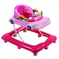 Розовые ходунки автомобиль 9206а