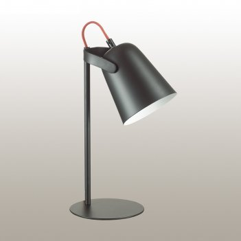 Настольная лампа kenny 1x4вт e14 чёрный 11,5x11,5x37см