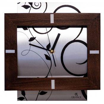 Часы настенные a-03  темный орех 300х270х30 мм