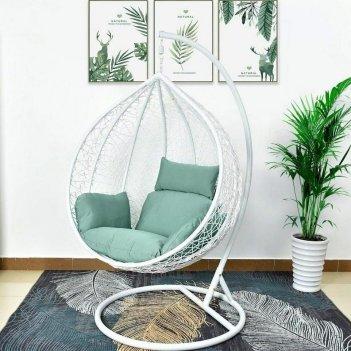 Подвесное кресло cocoon chair 168 xl white, садовая мебель