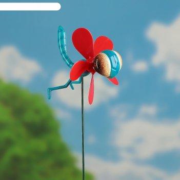 Декор садовый пчелка фея с пропеллером, штекер 60 см, микс цвета