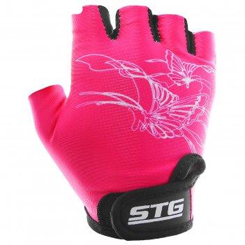 Перчатки велосипедные детские, размер m, цвет розовый