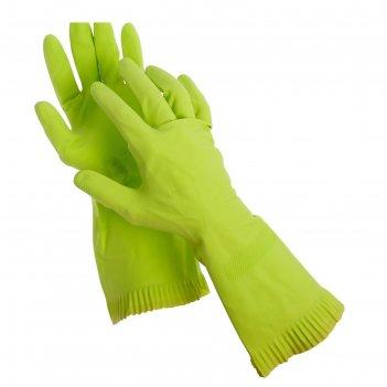Перчатки латексные с внутренним х/б напылением, размер м, пара