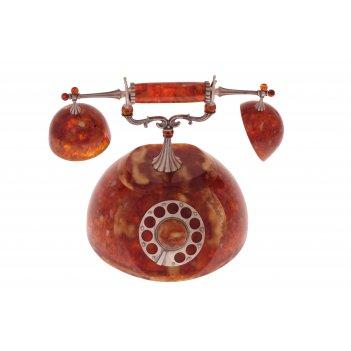 Шкатулка старинный телефон из янтаря