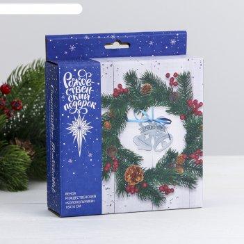 Венок рождественский «колокольчики», 16 х 16 см