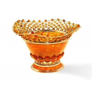 Конфетница солнышко из янтаря