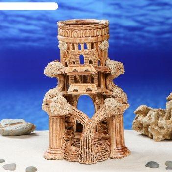 Декорации для аквариума колонна