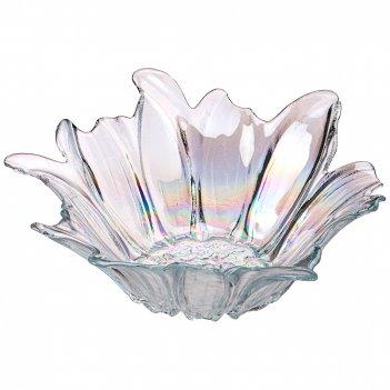 Блюдо глубокое/ваза для фруктов luster beauty rainbow 24см без упаковки (м