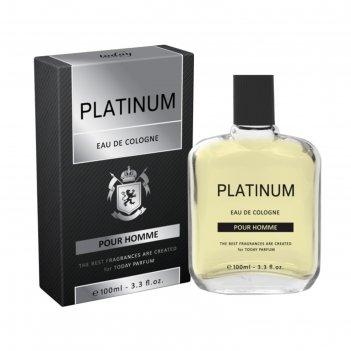 Одеколон eau de cologne platinum, 100 мл  (без спрея)