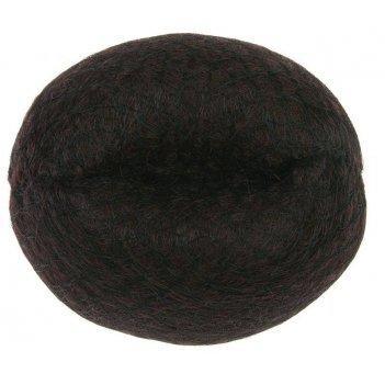 Валик ho-5141 brown  для прически, искусственный волос + сетка,  коричневы