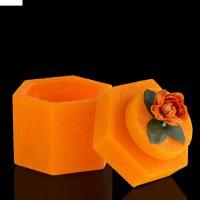 Музыкальная шкатулка цветы оранж, аромат апельсина